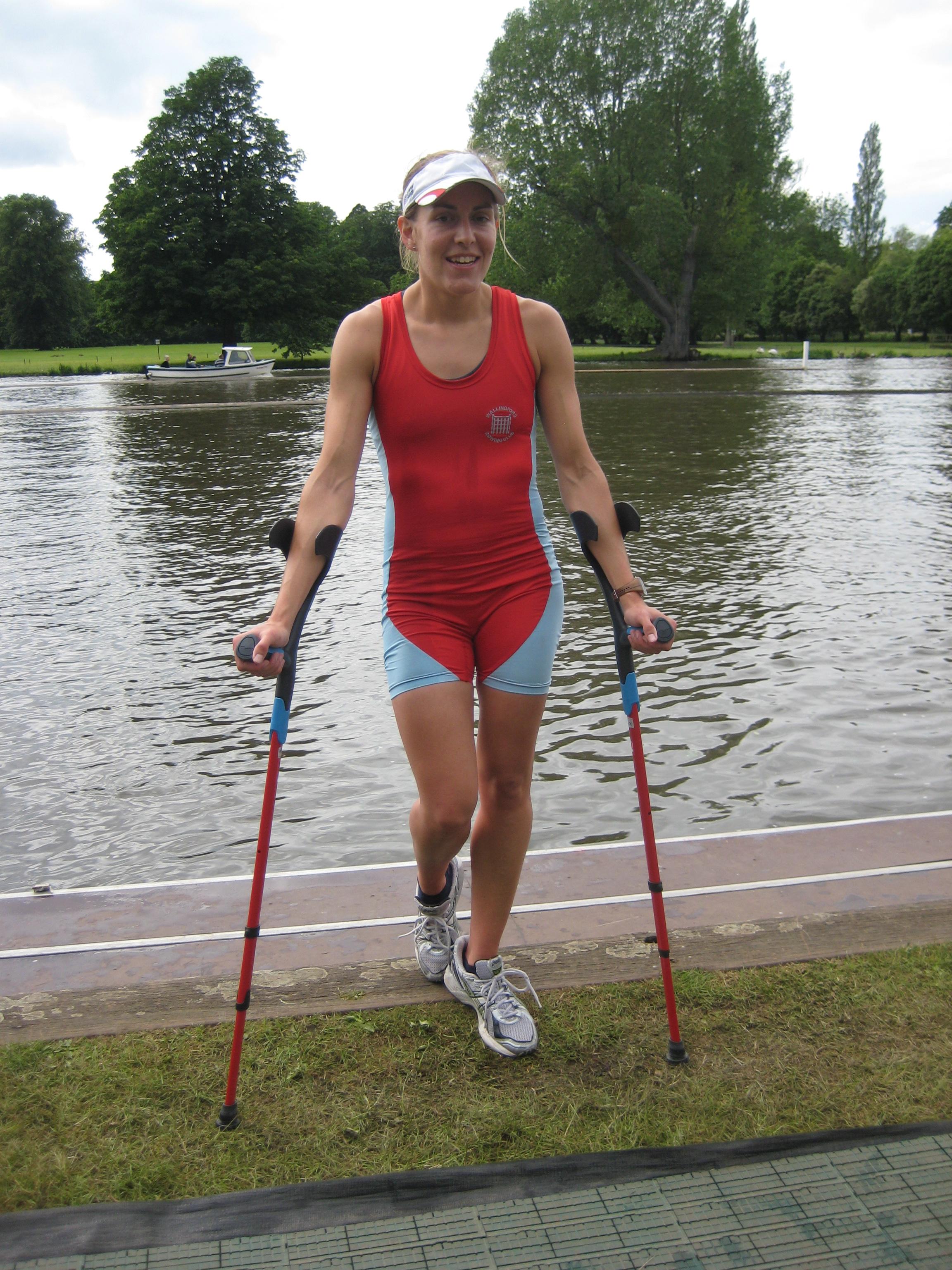 Women On Crutches